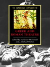 The Cambridge Companion to Greek and Roman Theatre (eBook)